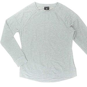 32 Degrees Heat Quilted Crew Neck Fleece Top